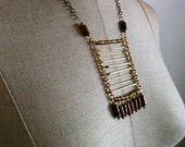 Desert- Porcupine Quill Wood Necklace