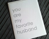 You are my favorite husband - note card for love, men, husbands