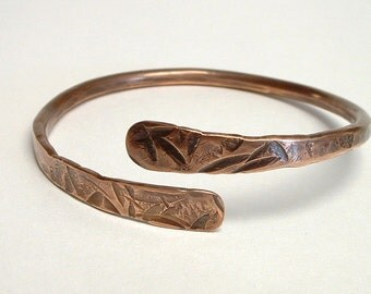 Copper Bangle Bracelet Hammered