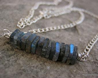 Lucy........Sterling Silver Labradorite Gemstone Necklace