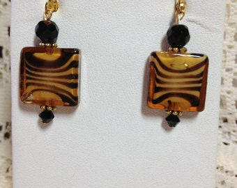 Living On The Wild Side Tiger Earrings