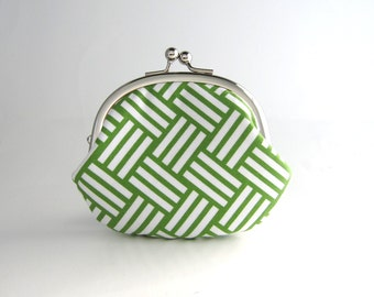Frame Coin Purse- green tatami