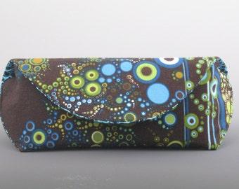 Sunglass case in Amelia Caruso Effervescence- Earth Stripe- Made to order