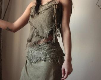 Daenerys Targaryen Game of Thrones Tribal fairy costum, tattered and wild shaman style CUSTOM MADE