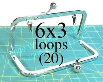 26% OFF 20 Nickel-free 6x3 purse frame(TM) with LOOPS