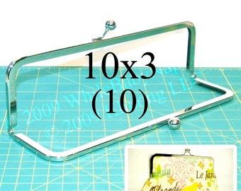 15% OFF 10 Nickel-free 10x3 metal purse frame(TM) kisslock