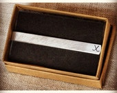 Golf or Hockey Stamped Necktie Clip Tie Tab Stamped Double Sided