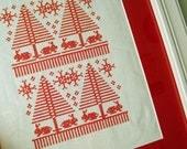 PDF Nordic Winter Sampler PDF Cross Stitch Redwork Pattern