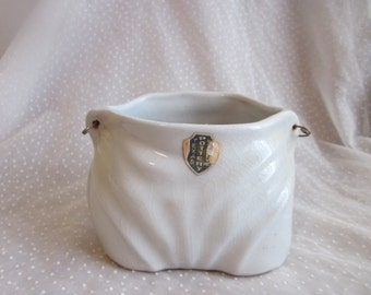 The Cutest Vintage Diaper Shaped Vase or Planter Blue Texas Pottery Company Vintage