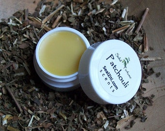 Patchouli Solid Perfume with Coconut Oil, Beeswax and Patchouli Essential Oil