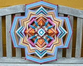 Peace and Love, 24 inch Ojo de Dios mandala