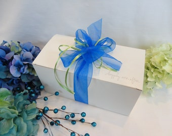 Wine Glass Gift Boxes - Glassware Gift Boxes  - Champagne Glass Gift Boxes - Gift Wrap - Personalized to match your Wedding Colors