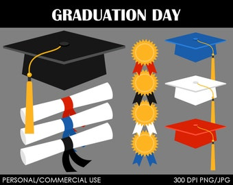 Graduation Day Clipart - Digital Clip Art Graphics for Personal or Commercial Use