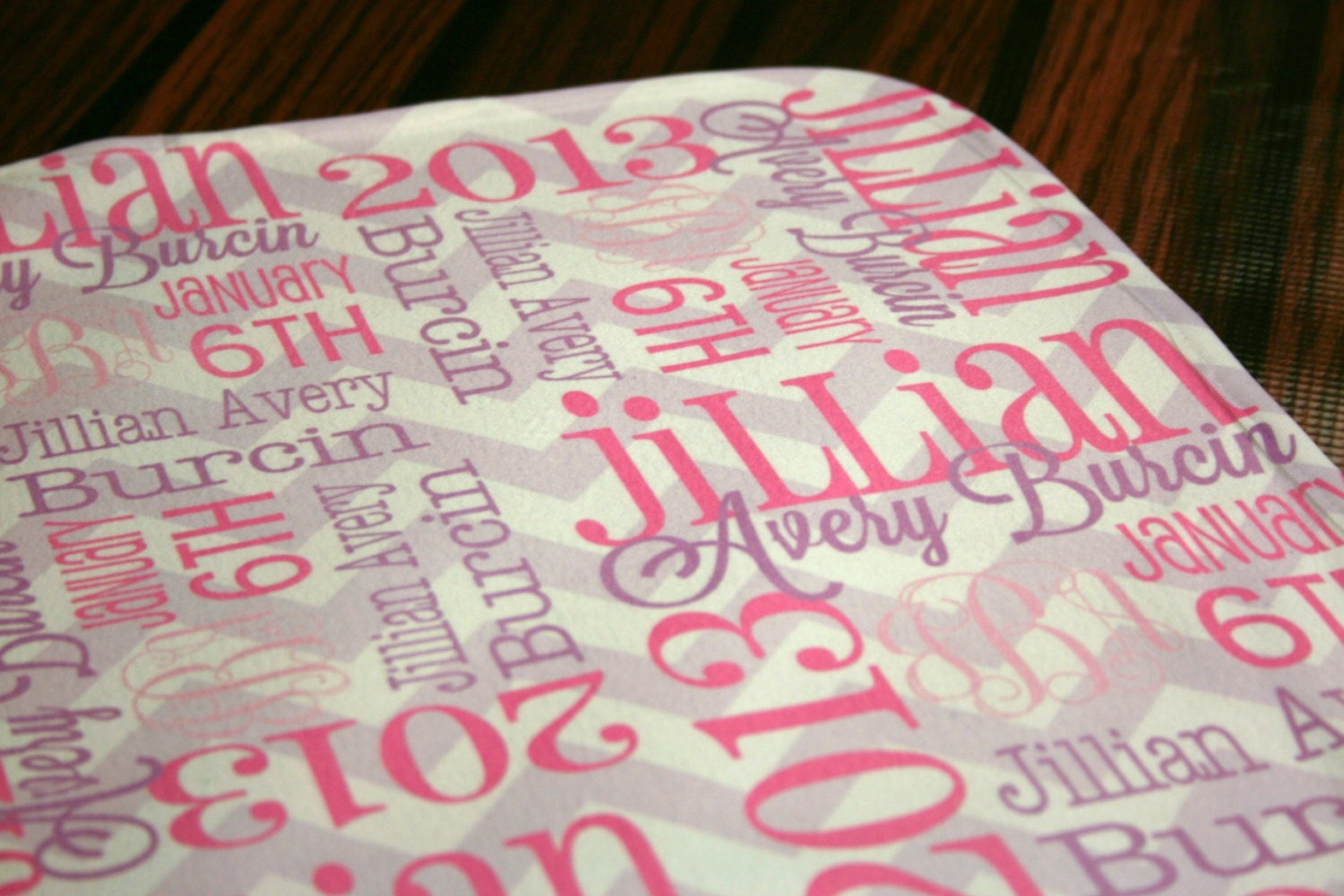 Personalised New Baby Gifts Australia : Personalized baby lovey mini blankie