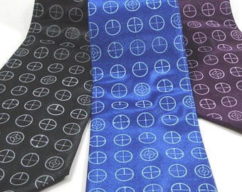 Men's Necktie - Crosshairs Tie - Premium Quality Microfiber Tie - Gift wrapped - Choose color and quantity