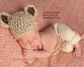 Teddy Bear Newborn Photography Hat / BEAR Hat all babies  Photo prop HAT / Newborns New Baby Hat Perfect GIFT / Photo Shoot Baby Bear Hat