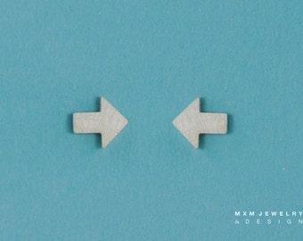 Sterling Silver Tiny Arrow Earrings