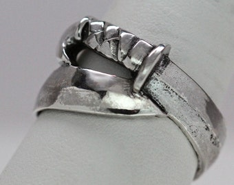 Viking Sword Ring Victory  sizes 4 to 12 made to order