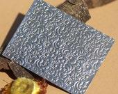 Brass Textured Metal Sheet Stars Moon and Sun Pattern 18g - 3 x 2 1/4 inches - Bracelets Pendants Metalwork
