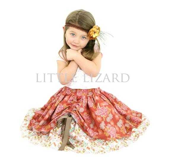 Girls Skirt SEWING PATTERN, Peek A Boo, girls and dolls, 3m-10