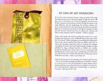 Pensieri Art Zine - Issue 01 - Art Journaling (Digital PDF)
