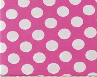 Pink and white polka 1 yard