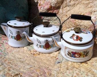 SALE Vintage George Briard Ambrosia and Fruit Floral Tea Pot Collection