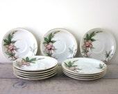 Vintage Meito China Woodrose Saucers Set of 12
