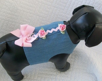 Shabby Chic Blue Jean  Dog Harness