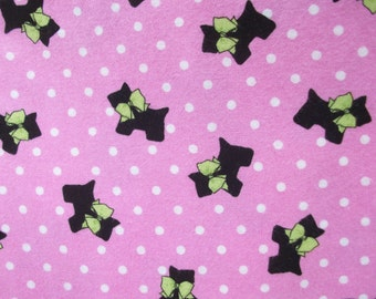 Sale Dogs  Print  Fabric  Cotton Flannel Fabric  1 Yard End of Bolt