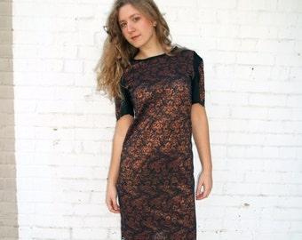 Ophelia's Soliloquy Bronze Lace Dress