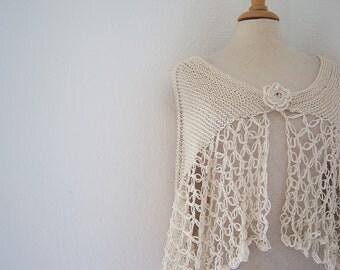 Bridal shawl ivory