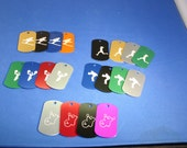 Sports Dog Tags- Name or School Custom Engraved