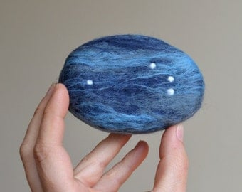 Felted Soap with Aries Constellation ( Eucalyptus Spearmint )