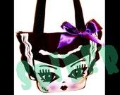 Frankies Bride Purse with Straps Bride of Frankenstein Spooky Cutie Frankie's Bride Handbag