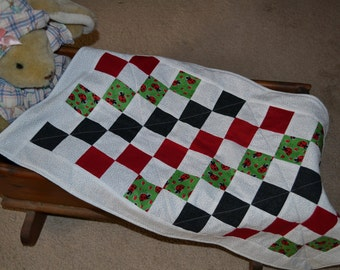 More Lady Bugs Changing Pad/Doll Quilt (No. 113)