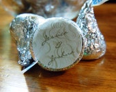 1/2 order Hershey Kiss Sticker Personalized Wedding Favor