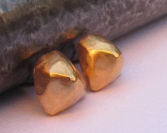 Gold Studs Earrings Gold Post  Earrings Geometric Earrings 3dm post earrings