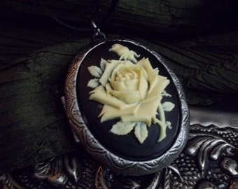 Natural  Solid Perfume Locket  Rose Cameo Gypsy Alchemy  Choose Your Scent