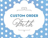 Custom Listing - For Beth Joy Only - 60 Quantity - Sweet Script Kraft Favor Bags and 60 Round Stripe Stickers
