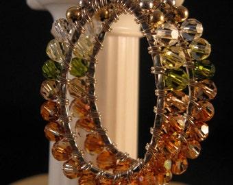 Crystal Wrapped Hoop Earrings,silver earrings, hoop earrings, crystal earrings, swarovski crystal earrings, wrapped earrings,earrings,hoop