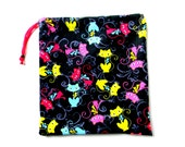 Gymnastics Grip Bag or Gift Bag Kitty Cats with Bows