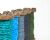 Paper Twine on a Small Old Wooden Bobbin