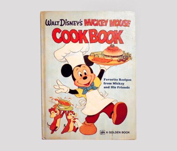 Mickey Mouse Cookbook, Disney Cookbook, Children's Book, Walt Disney Book, Disney, Mickey Mouse Books by NewYorkBookseller on Etsy