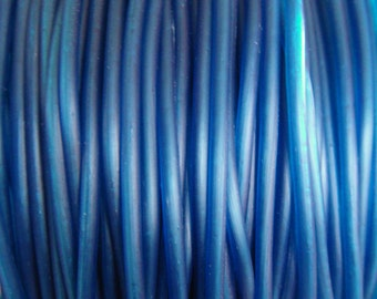 Rubber Cord tube 2mm(0,08in), hole 0,8mm(0,03in), PVC, Navy Blue- 4,5m/5 yards(1 piece)