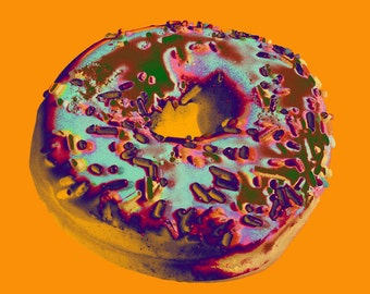 Donut Pop Art print - canvas