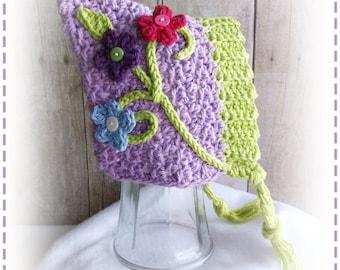 Crochet PIXIE BONNET Hat PDF Pattern Sizes Newborn to Adult Boutique Design - No. 57 by AngelsChest