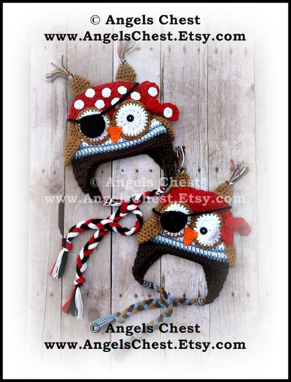 Free Crochet Pirate Owl Hat Pattern Traitoro For