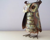 Brutalist Copper Metal Owl Sculpture C Jere Style