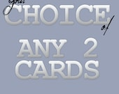 Blank Notecards - Set of Two - Your Choice